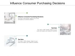 Influence Consumer Purchasing Decisions Ppt Powerpoint Presentation Styles Cpb