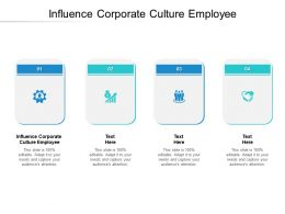 Influence Corporate Culture Employee Ppt Powerpoint Presentation Ideas Summary Cpb