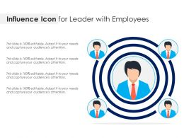 Influence Icon For Leader With Employees
