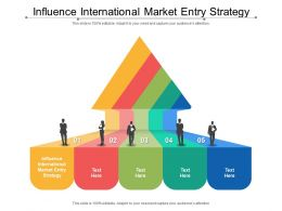 Influence International Market Entry Strategy Ppt Powerpoint Presentation Pictures Elements Cpb