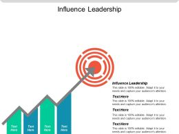 Influence Leadership Ppt Powerpoint Presentation Gallery Microsoft Cpb
