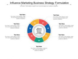 Influence Marketing Business Strategy Formulation Ppt Powerpoint Presentation Icon Objects Cpb