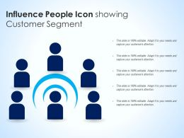 Influence People Icon Showing Customer Segment