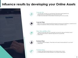 Influence Results By Developing Your Online Assets Ppt Powerpoint Presentation Slides