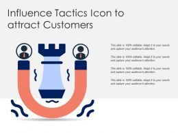 Influence Tactics Icon To Attract Customers