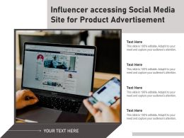 Influencer Accessing Social Media Site For Product Advertisement