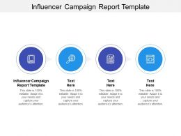 Influencer Campaign Report Template Ppt Powerpoint Presentation Infographic Template Graphic Images Cpb