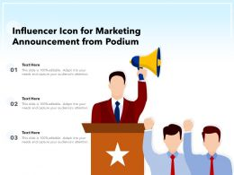 Influencer Icon For Marketing Announcement From Podium
