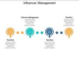 Influencer Management Ppt Powerpoint Presentation Inspiration Mockup Cpb