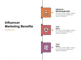 Influencer Marketing Benefits Ppt Powerpoint Presentation Pictures Example File Cpb