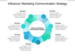 Influencer Marketing Communication Strategy Ppt Powerpoint Presentation Icon Cpb