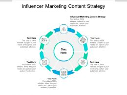 Influencer Marketing Content Strategy Ppt Powerpoint Presentation Icon Format Ideas Cpb
