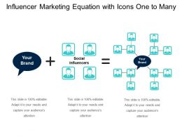 Influencer Marketing Equation With Icons One To Many