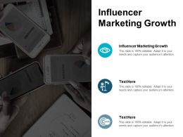 Influencer Marketing Growth Ppt Powerpoint Presentation Styles Portfolio Cpb
