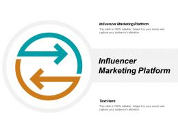 Influencer Marketing Platform Ppt Powerpoint Presentation Infographic Template Microsoft Cpb