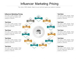 Influencer Marketing Pricing Ppt Powerpoint Presentation Ideas Graphics Design Cpb
