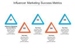 Influencer Marketing Success Metrics Ppt Powerpoint Presentation Icon Format Cpb