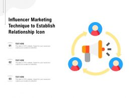 Influencer Marketing Technique To Establish Relationship Icon