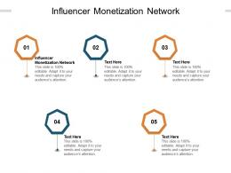Influencer Monetization Network Ppt Powerpoint Presentation Layouts Infographics Cpb