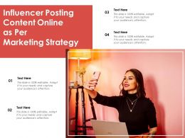 Influencer Posting Content Online As Per Marketing Strategy