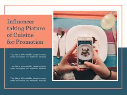 Influencer Taking Picture Of Cuisine For Promotion