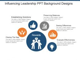 Influencing Leadership Ppt Background Designs