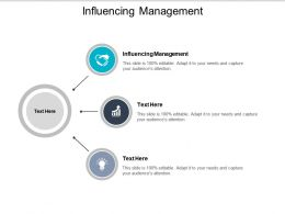 Influencing Management Ppt Powerpoint Presentation Graphics Cpb