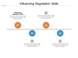 Influencing Negotiation Skills Ppt Powerpoint Presentation Outline Skills Cpb