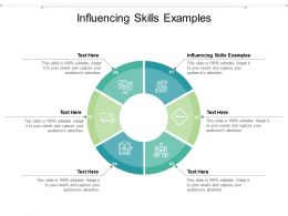 Influencing Skills Examples Ppt Powerpoint Presentation Professional Slide Download Cpb