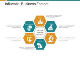 Influential Business Factors Ppt Diagrams