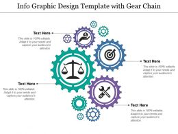 Info Graphic Design Template With Gear Chain
