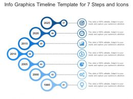 Info Graphics Timeline Template For 7 Steps And Icons