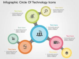 Infographic Circle Of Technology Icons Flat Powerpoint Design