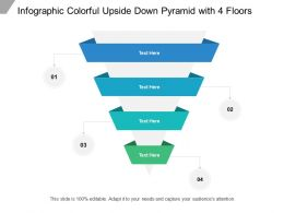 Infographic Colorful Upside Down Pyramid With 4 Floors