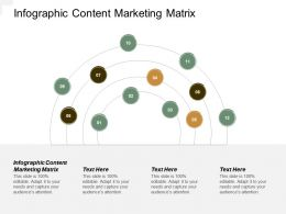 Infographic Content Marketing Matrix Ppt Powerpoint Presentation Pictures Introduction Cpb