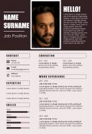 Infographic Resume A4 Size Powerpoint Template