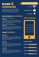 Infographic Resume Design Template With Educational Background