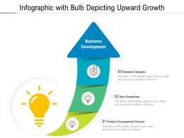 Infographic With Bulb Depicting Upward Growth