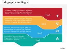 Infographics 4 Stages Flat Powerpoint Design