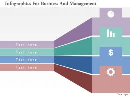 Infographics For Business And Management Flat Powerpoint Design