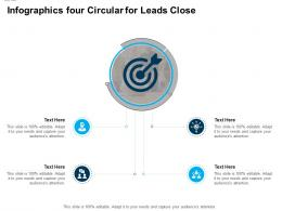 Infographics Four Circular For Leads Close Infographic Template