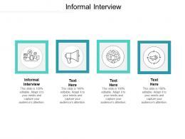 Informal Interview Ppt Powerpoint Presentation Slides Design Templates Cpb