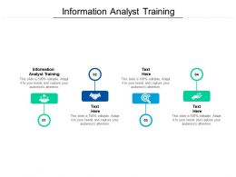 Information Analyst Training Ppt Powerpoint Presentation Outline Layout Cpb