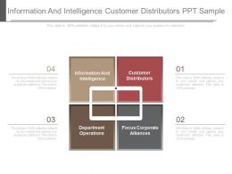 Information And Intelligence Customer Distributors Ppt Sample