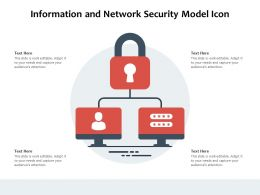 Information And Network Security Model Icon