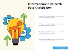Information And Research Data Analysis Icon
