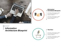 Information Architecture Blueprint Ppt Powerpoint Presentation Ideas Visual Aids Cpb