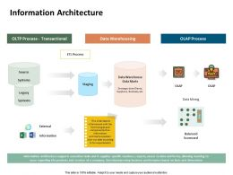 Information Architecture Data Warehousing Ppt Powerpoint Presentation Microsoft