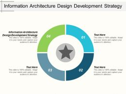 Information Architecture Design Development Strategy Ppt Powerpoint Presentation Summary Cpb