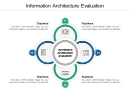 Information Architecture Evaluation Ppt Powerpoint Presentation Infographics Shapes Cpb